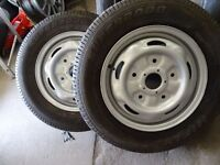 pair of brand new FORD TRANSIT steel wheels with brand new 195 70 15 tyres £40 each