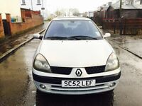 2003 52 plate Renault Clio 1.2