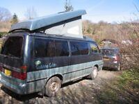 Toyota Hi Ace camper van. 1994, sleeps 4, very reliable, MOT till June 2019.