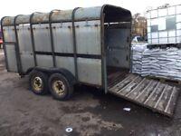 Old Farm Twin Wheeled trailer Very Usefully A Bargain £495