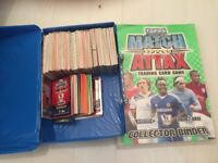Over 600 match attax cards and folder