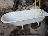 Roll Top Bath, with unusual features, perfect for restoration.