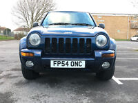 Jeep Cherokee 2.8 TD Limited Station Wagon Auto 4x4 5dr 2004 (54 reg), SUV £3,495 p/x welcome