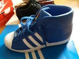 Adidas Originals Pro Model Animal Print Leather Boots Sz 9! BARGAIN £35!!