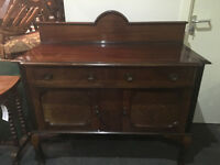 Beautiful Antique Decorative Lockable Mahogany Buffet Sideboard Server