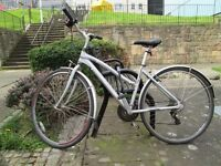 "MARIN Kentfield ladies city hybrid bike 17"" - with lock, helmet, lights, gloves, reflectors"