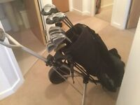 Full Set Of Golf Clubs and Trolly and Bag.