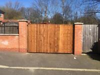 Driveway gate wooden gates