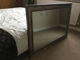 Mirror very heavy and nice condition,