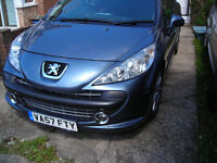PEUGEO 207 hdi gti. glass roof, alloys,5dr. service history. drive really well.