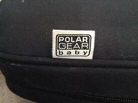 Polar Gear booster seat that folds up and packs away