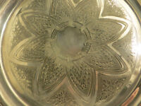 Rare Antique Mid-Victorian (Pre 1879) Silver Plate Serving Tray James Dixon & Son Wall Hanging Art