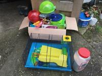 Hamster cage and ball and loads more