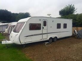 2007 SWIFT CONQUEROR 645 LUX *FIXED ISLAND BED* 4 BERTH TWIN AXLE TOURING CARAVAN & AWNING!