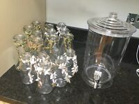 Selection of Milk Bottles and Drink Dispenser ideal for wedding/party