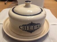 The 1869 victorian pottery cheese dish