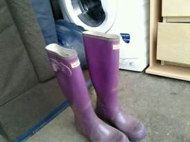 Hunters welly boots girls