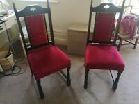 Set of two upholstered chairs