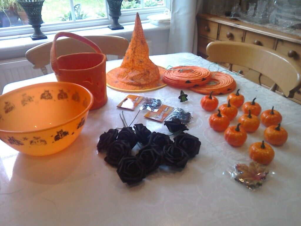 Halloween Decorations Mixed Job Lot In Addlestone Surrey