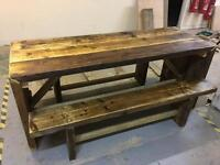 Scaffold table and 2 benches