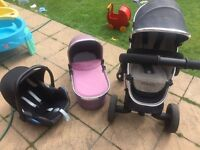 ICANDY PEACH3 CAR SEAT CARRY COT AND SEAT UNIT INCLUDED