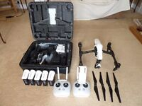 DJI Inspire drone with dual controllers