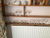 SET OF 23 VINTAGE EMBOSSED GLASSES