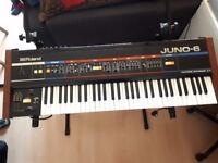 Roland Juno 6 Vintage Analog Synthesiser - From 1982 - Great Condition