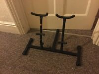 Alto and tenor saxophone stand