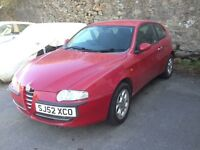 Alfa Romeo 147 1.6L TS with new 12 months MOT