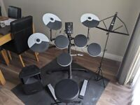 Roland TD-1K Electronic Drum Kit with Pulse 100W Speaker + Seat & Music Stand