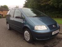 VW SHARAN , 1.9 TDI , 7 SEATS , MOT OCTOBER 18 , GENUINE 82200 MILES ,