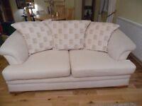 Off White fabric 3 seater sofa