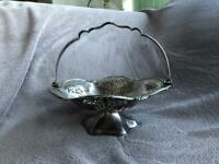 Mappin and Webb Silver Plated Fruit Dish with Handle