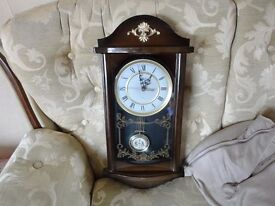 large hanging battery wall clock good working order