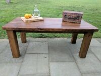 Extra large rustic reclaimed wooden farm table. Dining/kitchen.