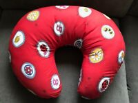 Red Nursing cushion excellent condition. Also good for tummy time and baby sitting up