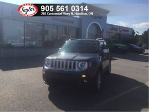 2017 Jeep Renegade Limited 4x4 Automatic w/Leather, Sunroof, Nav