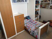 Mamas & papas bay Bridge cot / bed furniture set