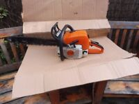 "STIHL MS 390 CHAINSAW WITH 20"" BAR AND ALMOST NEW CHAIN"