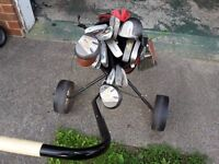 golf bag and trolly