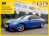 BMW 4 SERIES 2.0 420D M SPORT 2d AUTO 190 BHP PERFORMANCE KIT 0 (blue) 2015