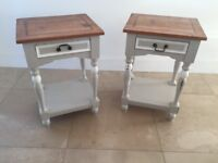 Pretty matching pair of Gustavian style bedside tables