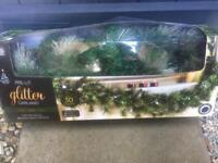 Brand new Christmas pre lit glitter garland