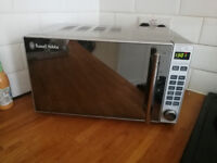 Silver Russell Hobbs Microwave. Used but in full working order