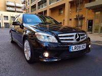 2009 Mercedes-Benz C Class C220 CDI AMG Sport 4dr Automatic, Paddle Shift, Full Service History