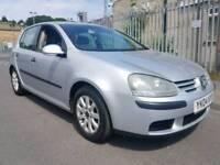2004 04 REG VW GOLF MK5 1.5 FSI SE 1.6 PETROL, 5 DOORS, HPI CLEAR, GOOD CONDITION. ALLOY WHEELS