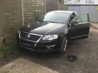 2005 LEFT HAND DRIVE LHD VW PASSAT 2.0 FSI. OSF DAMAGE TO WING AND WISHBONE