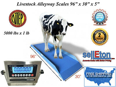 New Ntep Legal For Trade Livestock Cattlevet Alleyway Scale 5000 Lbs X 1 Lb