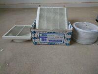 Addvent 6 inch/150mm kitchen / bathroom wall fan humidity control